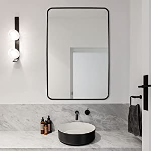 Black Rectangular Wall Mirror, 20