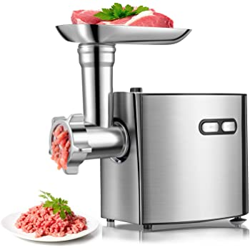 CHEFFANO Electric Meat Grinder |3 in 1| Sausage Stuffer & Meat Mincer |2000W Max| with Kubbe Kits, Sausage Maker Tubes, 3 Size Grinding Plates, 2 Stainless Steel Blades | Home Kitchen Commercial Use