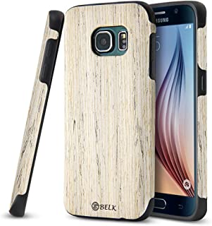 Galaxy S7 Edge Case, B BELK [Air to Beat] Non Slip [Slim Matte] Wood Tactile Rubber Bumper [Ultra Light] Soft TPU Back Cover, Premium Smooth Wooden Shell for Samsung Galaxy S7 Edge - 5.5 inch, Birch