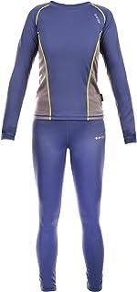 unisex Buykud a maniche lunghe maglietta da atletica a compressione per bambini