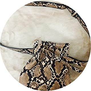 Waist bag fanny Pack bucket belt bag animal print Serpentine alligator leather women brand 2019,16X12cm1
