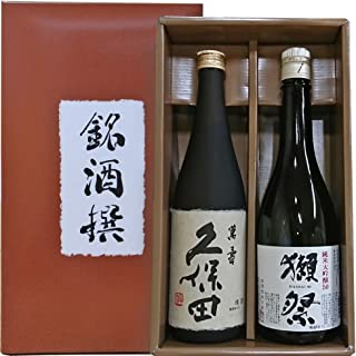 人気 日本酒銘酒撰 獺祭 磨き50 純米大吟醸 久保田 萬寿 (純米大吟醸) 飲み比べ720 ml×2本 銘酒撰オリジナルギフト箱入り 包装済み