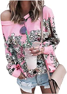 Coolred Women's Shirt Fall Winter Casual Weekend Long-Sleeve Floral Tees Shirt