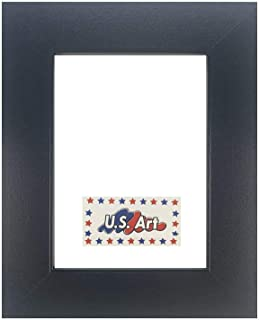 US Art Frames 24x32 Black Flat 1.25 Inch, Smooth Wrapped Finish Wood Composite Wall Decor Picture Poster Frame