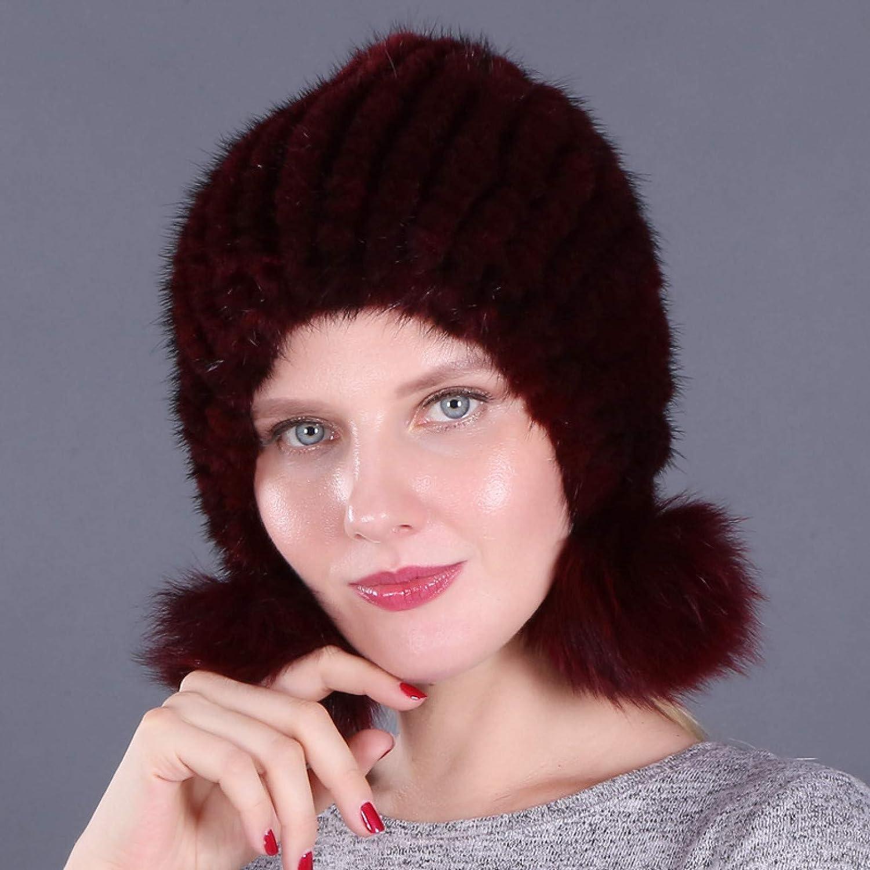 BELEMON Women Winter Hat Thick Warm Ladies Snow Louisville-Jefferson Now free shipping County Mall Mink Ski Fur