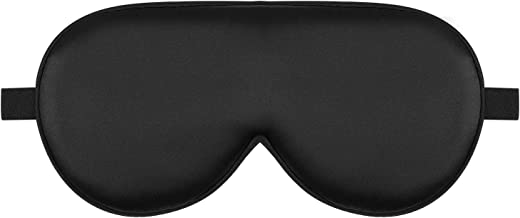 Alaska Bear Natural Silk Sleep Mask, Blindfold, Super Smooth Eye Mask (Black)
