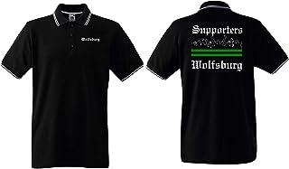 world-of-shirt / Wolfsburg Herren Polo-Retro Supporters Ultras