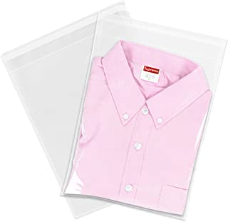 "100 Count - 9"" X 12"" Self Seal Clear Cello Cellophane Resealable Plastic Poly Bags - Perfect for Packaging Clothing, Shirts (More Sizes Available)"