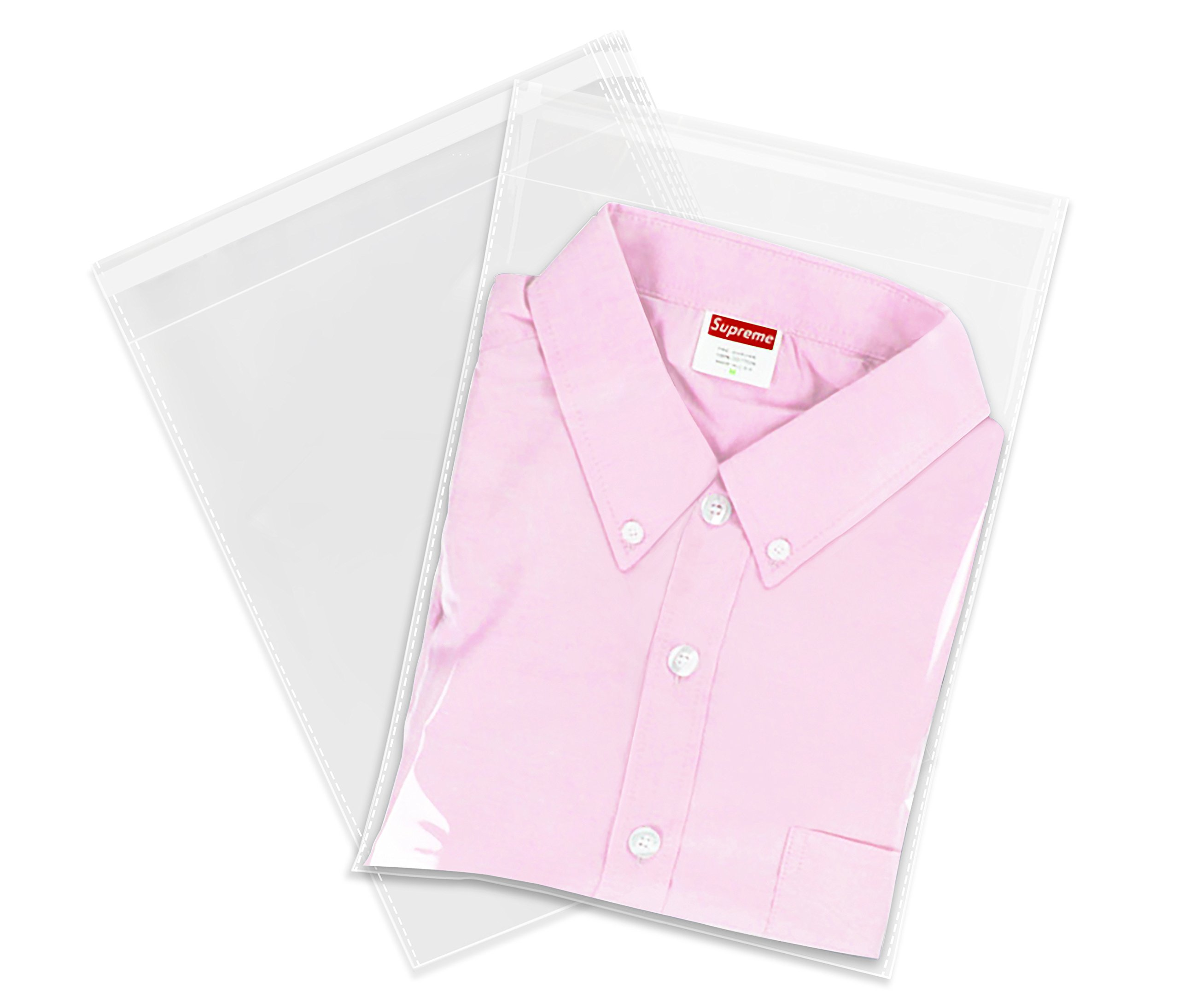 """Spartan Industrial 100Count 10""""X13""""Self Seal Clear Cellophane Packaging Clothing"""