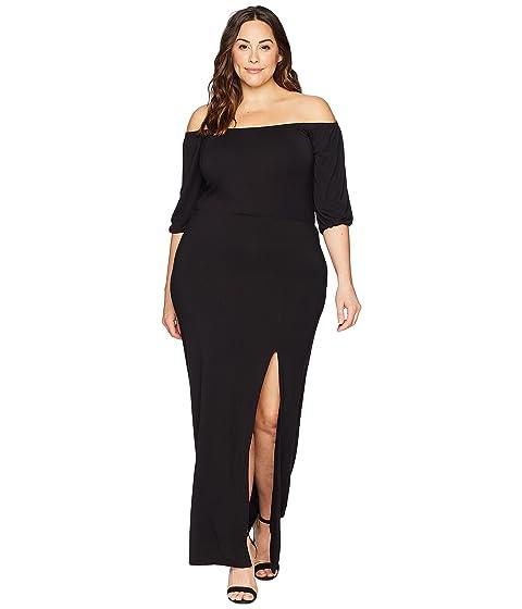 Kari Lyn Plus Size Kate Off The Shoulder Dress At Zappos