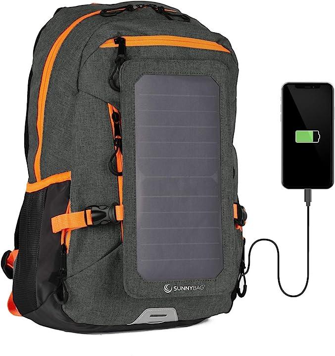 Zaino solare con usb per ricaricare laptop cellulari fotocamere tablet powerbank e altri dispositivi B07CSWTHMR