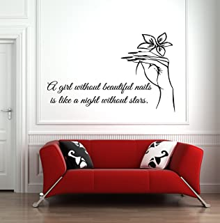 Nail Salon Decor Polish Manicure Pedicure Beauty Salon Wall Window Decal Sticker Art Quote HS106