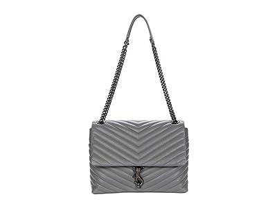 Rebecca Minkoff Edie Flap Shoulder Bag (Steel) Handbags