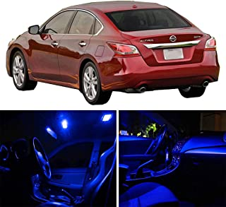 SCITOO 11Pcs Blue Package Kit Accessories Replacement Fits for Nissan Altima 2015-2017 LED Bulb LED Interior Lights