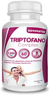 Triptofano con magnesio y vitamina b6. mas melatonina. espirulina. vitamina B3 y B5. 60 comprimidos