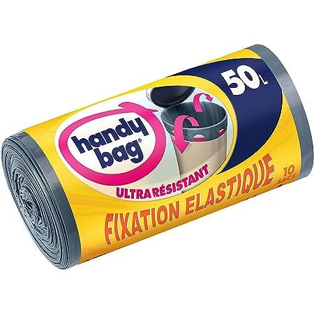 Handy Bag Sac Poubelle, Le 1 Rouleau de 10 Sacs, 50L