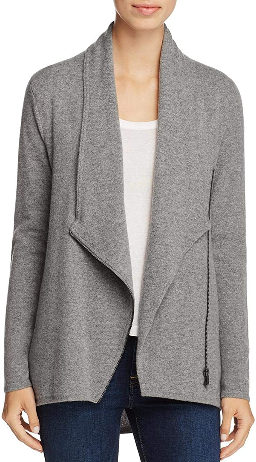 Private Label Womens Cashmere Zip Front Cardigan Sweater