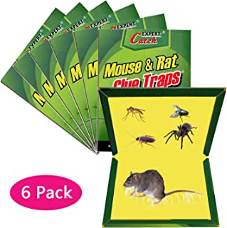 WAIWAI Mouse Glue Trap, 6 Pack Mouse Rat Glue Traps, New Version Strongly Adhesive, Mouse Traps Glue Boards for Mice Cockroach Ant Spider