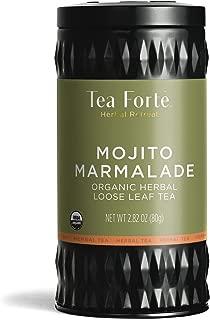Tea Forte Herbal Retreat Organic Herbal Tea, Makes 35-50 Cups, 2.82 Ounce Loose Leaf Tea Canister, Mojito Marmalade