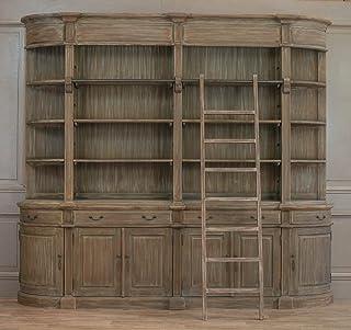 Biblioteca de madera doble con escalera, extra grande, diseño de Harry Potter