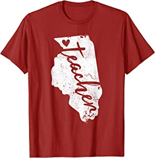 Red For Ed Illinois Teacher T Shirts, RedForEd Tee Shirt.