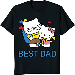 Mens Hello Kitty Best Dad Father's Day Tee Shirt