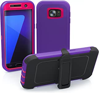 Galaxy S7 Edge Case, ToughBox [Armor Series] [Shock Proof] [Purple | Pink] for Samsung Galaxy S7 Edge Case [Built in Scree...