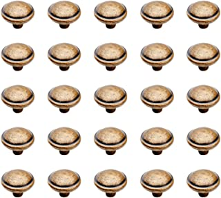 Emuca 9160008 Pomo para mueble, Ø32mm, zamak, acabado bronce, Set de 25