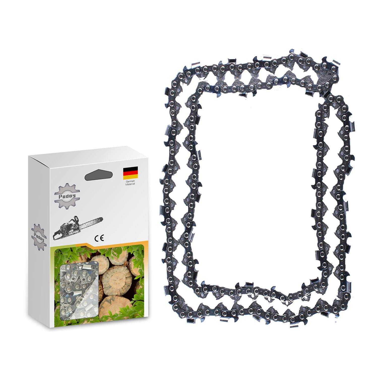 """Details about  /2 Pack Chainsaw Chain 3//8/"""" 0.050 Semi Chisel 44 DL for 12/"""" Stihl MS 193 T MS 200"""