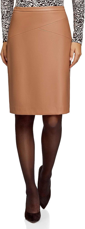 oodji Ultra Women's Faux Leather Pencil Skirt