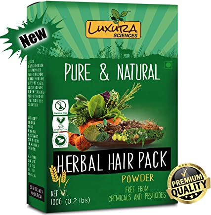 Luxura Sciences Natural Hair Pack For Dry Hair,Hair Growth,Hair Fall and Damaged Hair Repair Hair Mask(100 Grams)