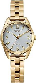Citizen Women's Drive Quartz Stainless Steel Strap, Gold, 11 Casual Watch (Model: EM0682-74A)