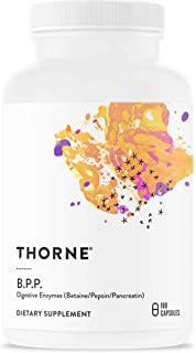 Thorne Research - B.P.P. (Betaine, Pepsin, and Pancreatin) - Comprehensive Blend of Digestive Enzymes - 180 Capsules