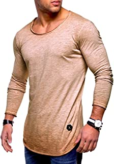 Howely Men Hipster Hip Hop T-Shirt Muscle Casual Tops Slim Fit Blouse Shirts