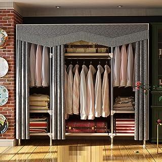 LyMei Armoire de Rangement, Armoire De Stockage Portable en Tissu renforcé en Acier Pliage Armoire, Salon Chambre Vêtement...