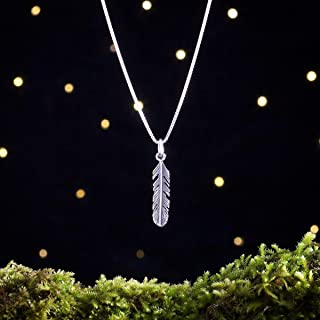 Sterling Silver Feather - Small - (Charm Only or Necklace) - Handmade, Solid .925