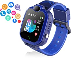 ZOPPRI Smartwatch for Kid, IP67 Waterproof 1.44 inchTouch Screen Watches. GPS Tracker with SOS and Pedometer with Camera Phone Watch. Smartwatch for 3-14 Year Old Children Girls Boys (H1Blue)