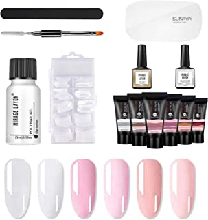 Nail Extension Glue Set, Free Paper Support Solid Quick-Drying Model Quick Extension Glue, Starter Kit Nail Tool Gel Nail ...