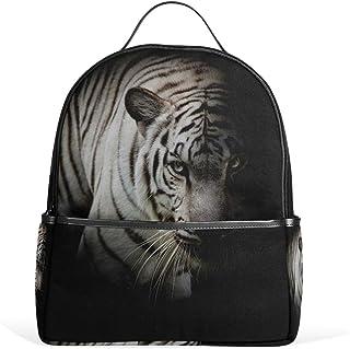 Coosun weißer Tiger Schulrucksack aus leichtem Segeltuch für Jungen und Mädchen