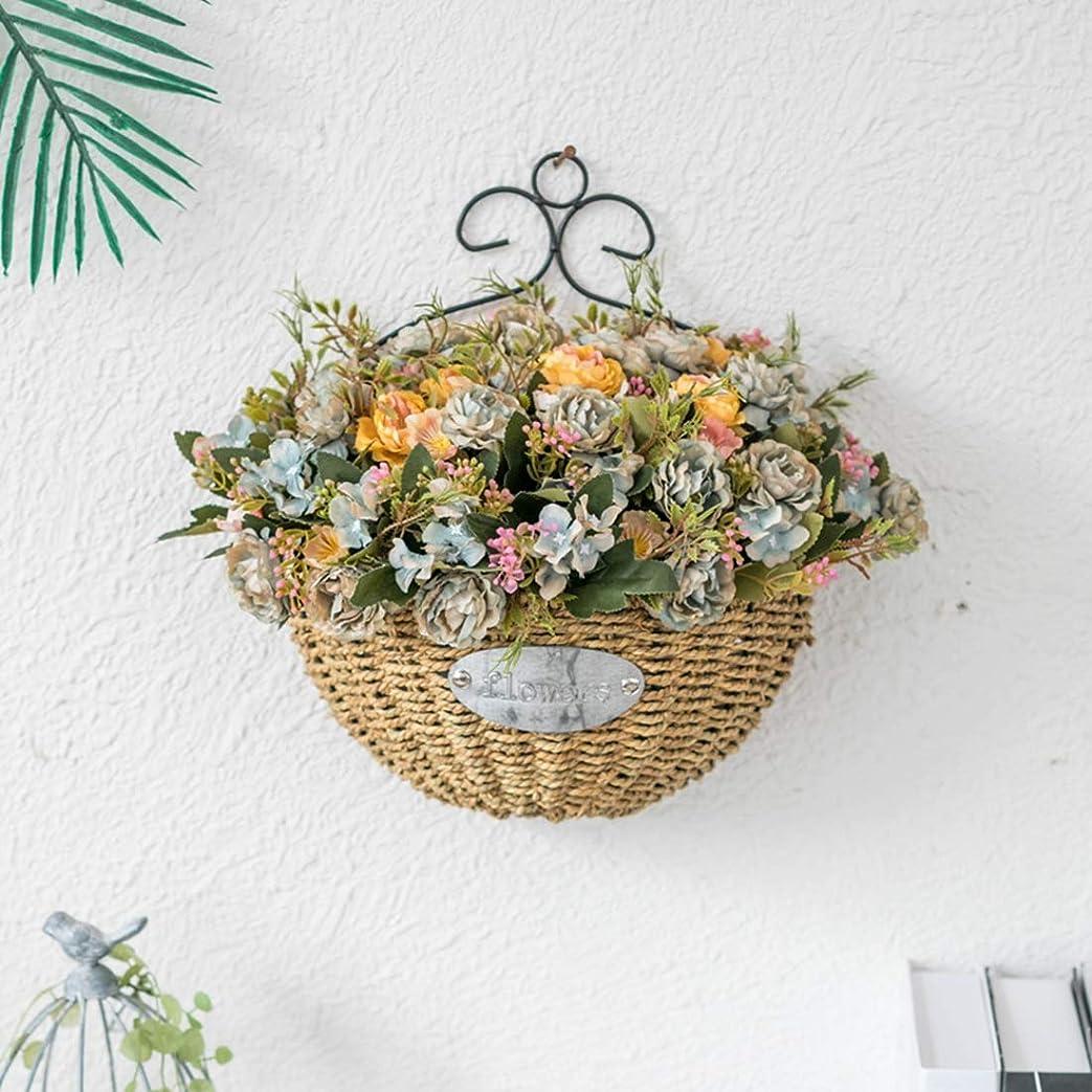 造花 牡丹 人工観葉植物 インテリア 壁掛け アートフラワー ブーケ 枯れない花 おしゃれ かわいい 母の日 プレゼント お祝い 店飾り イエロー