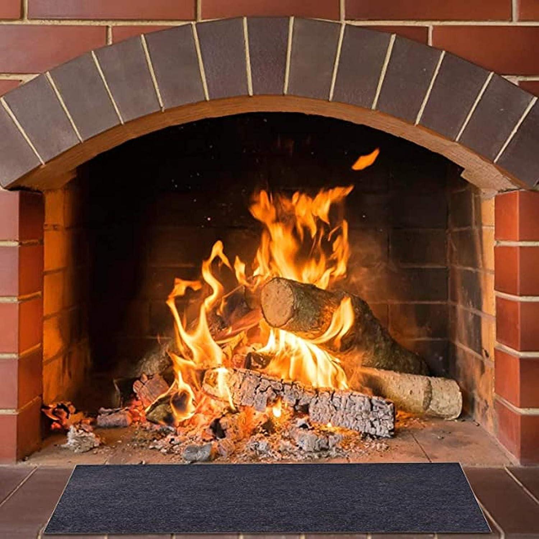Functional Hearth Rug for Indoor Home Living Room 3 Sizes Fireplace Floor Protection Mat Non-Slip Professional Polyethylene Flame Resistant 60in NIxueLILI Fire Retardant Fiberglass Carpet