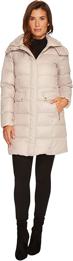 Cole Haan - Quilted Down Coat w/ Detachable Hood