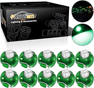 Partsam T3 Neo Wedge LED Light Bulbs for A/C Heater Climate Control Instrument Panel Dashboard Lights - Green 10Pcs