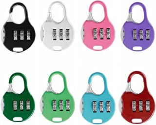 ZPLUST 3 Digit Combinations Padlock the Safe Cipher Lock Resettable Code Lock , Color Locks (7Pack)