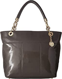 TH Signature - Top Zip Tote - Cracked Patent Leather