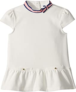 Contrast Ribbon Peplum Top (Toddler/Little Kids/Big Kids)