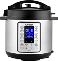 Nutricook Smart Pot Prime by Nutribullet 1000 Watts - 10 in 1 Instant Programmable Electric Pressure Cooker, 6 Liters,...