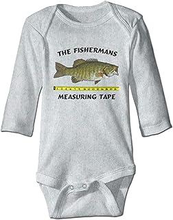 Fishermans Measuring Tape Long Sleeve Bodysuit Unisex Baby's Climbing Clothes Bodysuits Romper Short Sleeved Light Onesies White