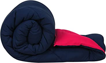 Clasiko Double Bed Reversible Ac Comforters, Fabric - Micro Cotton, 300 GSM, Color - Blue and Pink, Size - 90 x 100 Inches