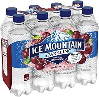 Ice Mountain Sparkling Water, Black Cherry, 16.9 oz. Bottles (8 Pack)